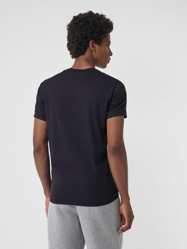 Cotton Jersey T-shirt in Navy - Men | Burberry United States - cell image 2