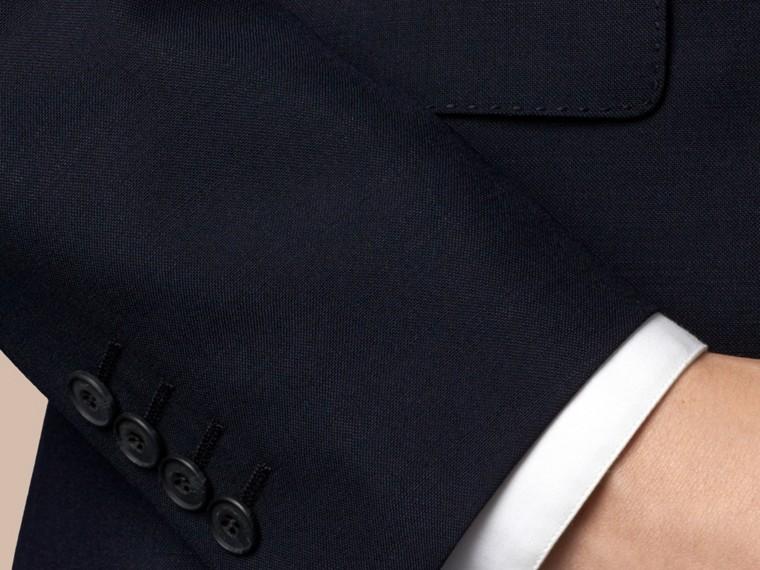 Azul marinho Terno de três peças de lã e mohair com corte slim - cell image 1