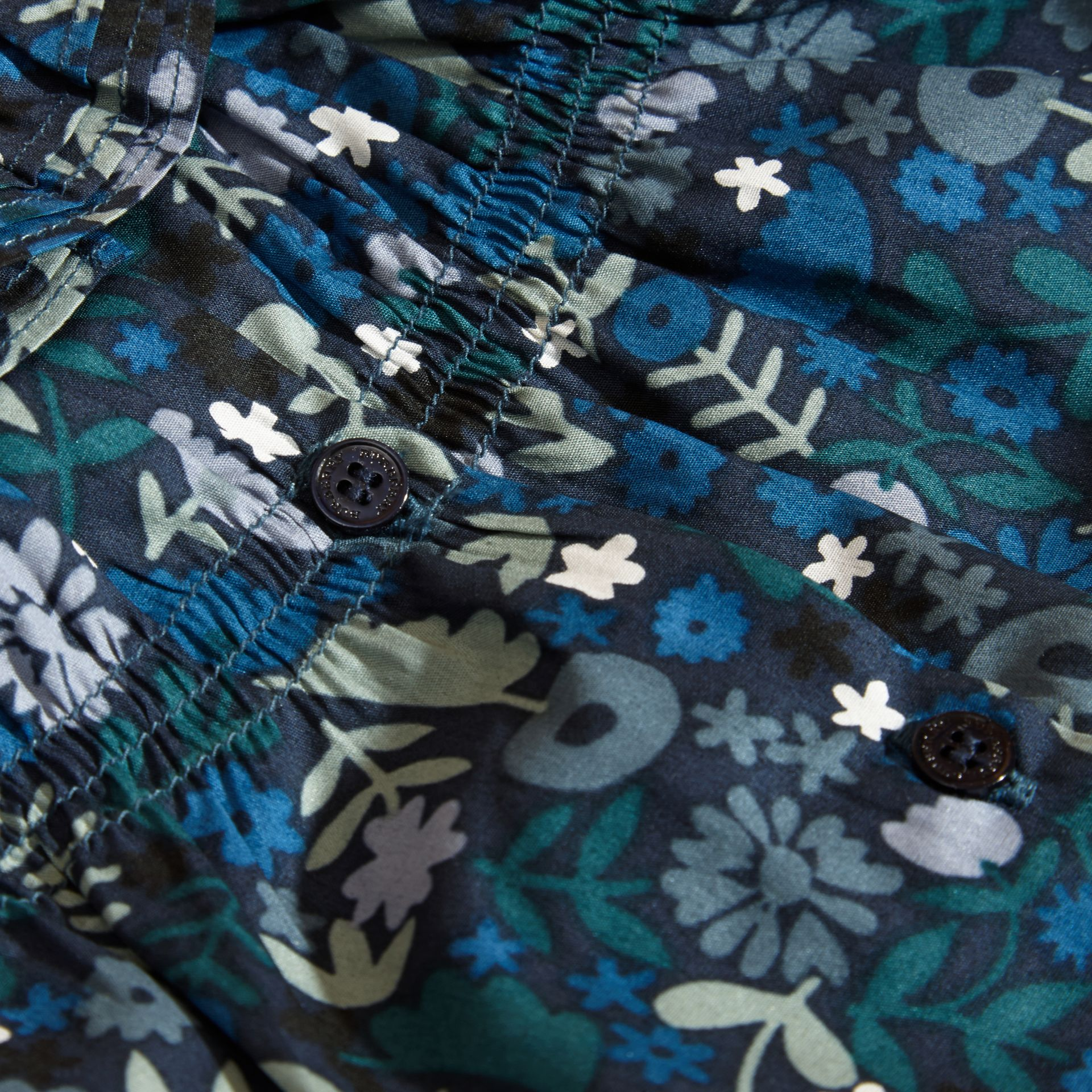 Hydrangea blue Floral Print Cotton Dress and Bloomers Hydrangea Blue - gallery image 2