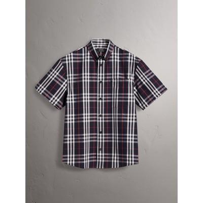 Burberry Black Check Shirt