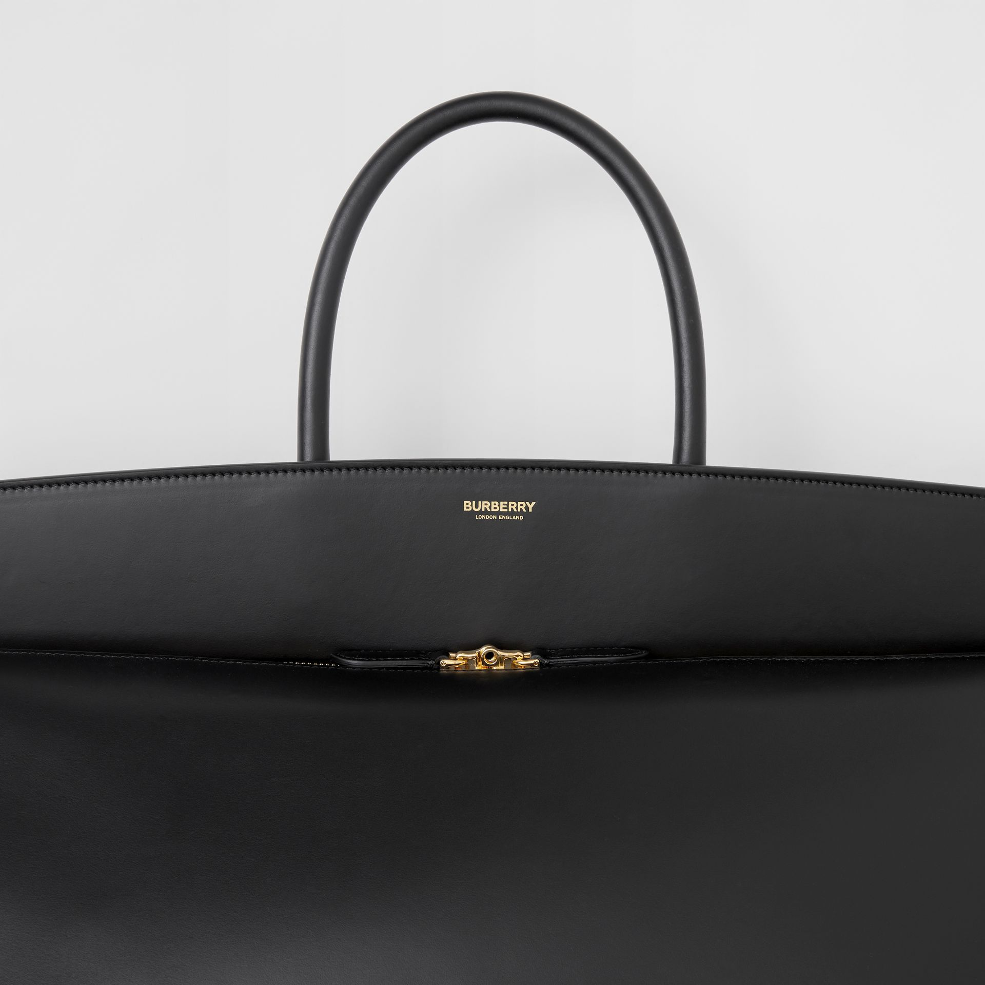 Extra Large Leather Society Top Handle Bag in Black - Men | Burberry - gallery image 1