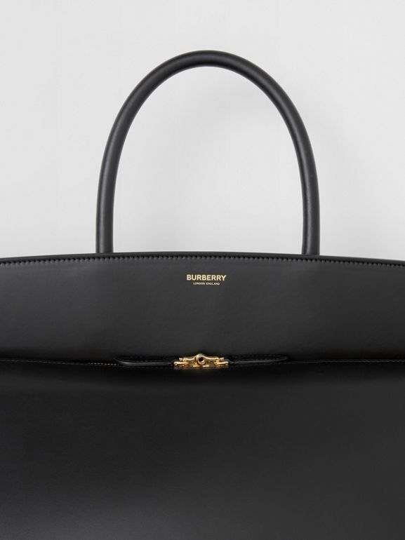 Extra Large Leather Society Top Handle Bag in Black - Men | Burberry - cell image 1