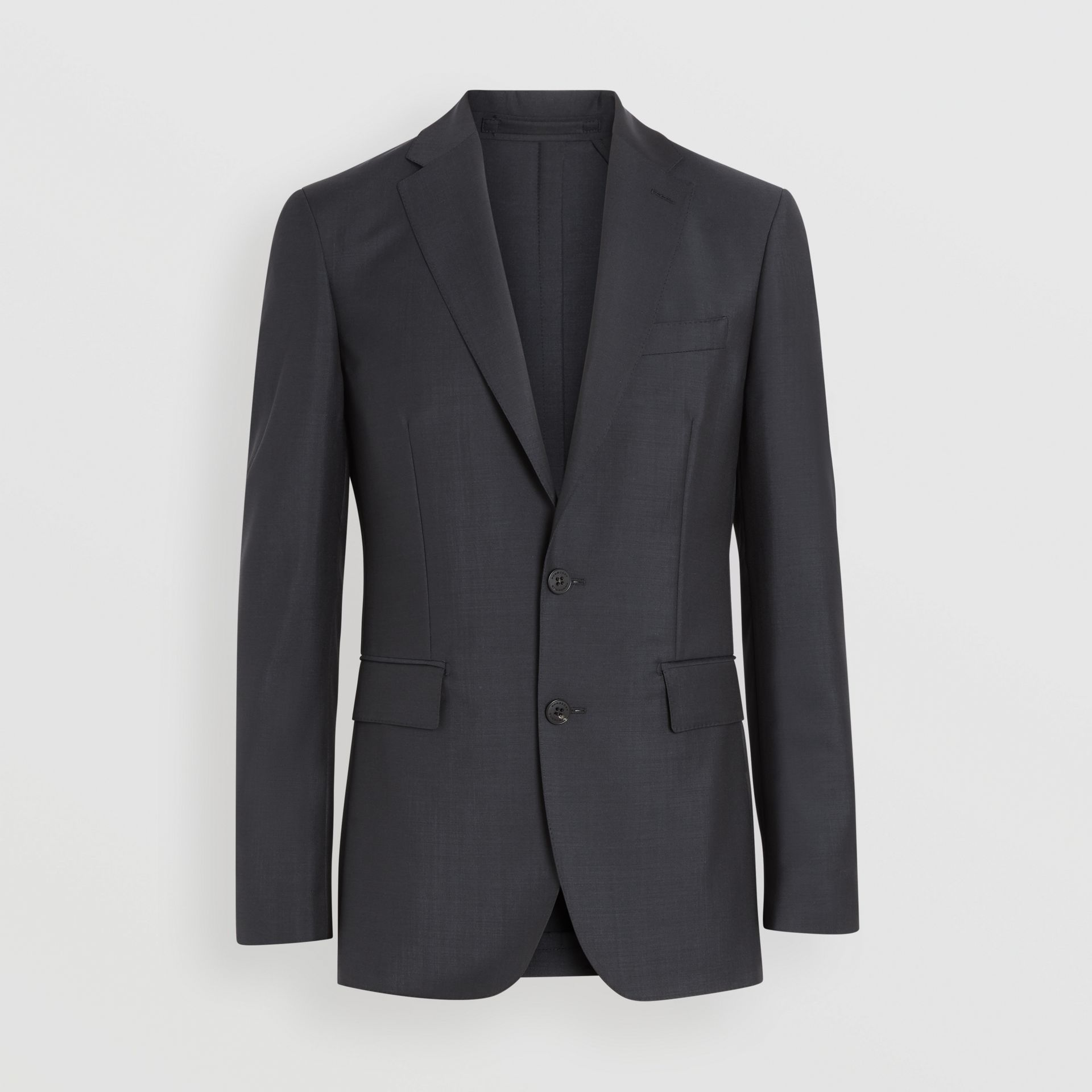 Soho Fit Wool Mohair Suit in Dark Grey Melange - Men | Burberry United Kingdom - gallery image 3
