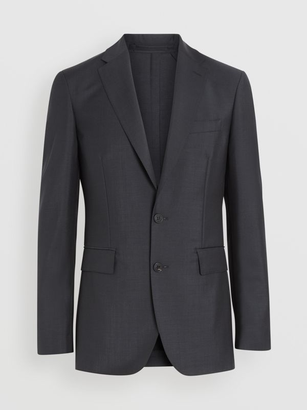 Soho Fit Wool Mohair Suit in Dark Grey Melange - Men | Burberry United Kingdom - cell image 3