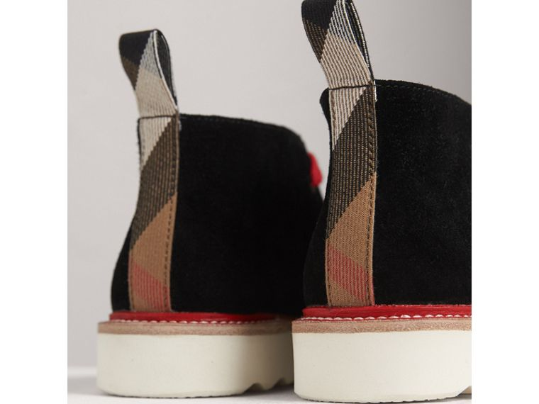 Two-tone Suede Desert Boots in Black - Boy | Burberry United Kingdom - cell image 1