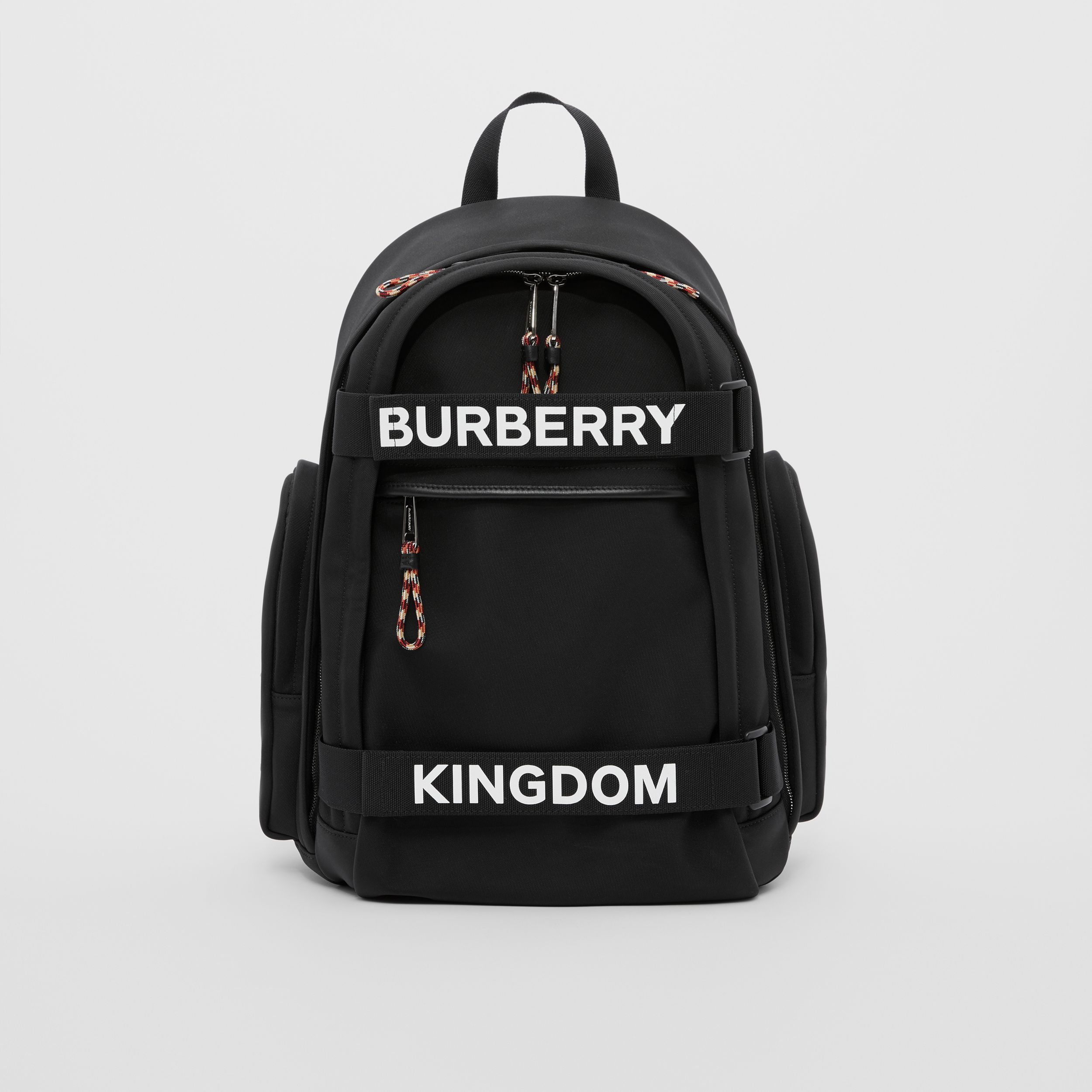 Large Logo and Kingdom Detail Nevis Backpack in Black/white | Burberry - 1