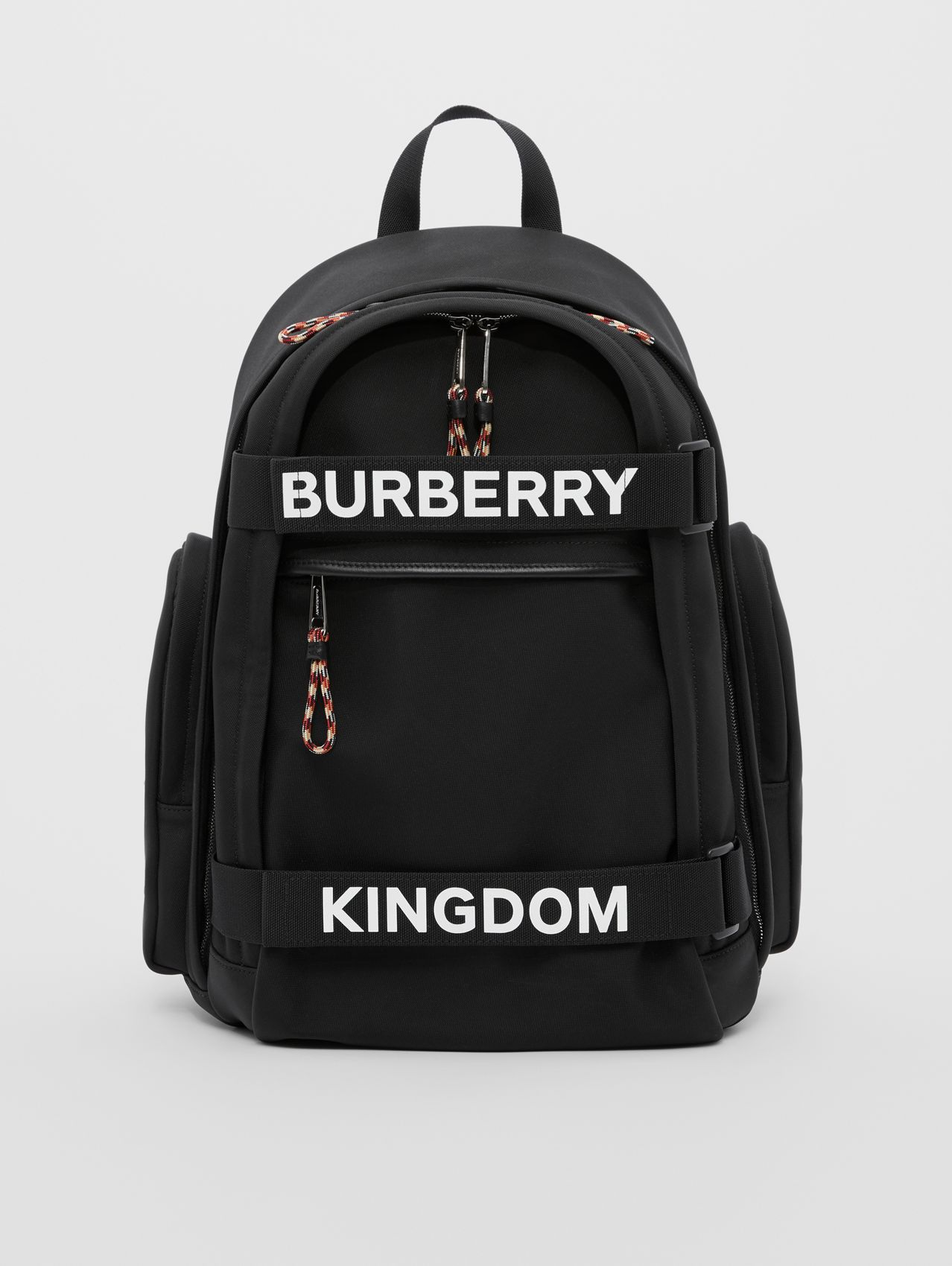 Mochila Nevis com logotipo e estampa Kingdom - Grande in Preto/branco