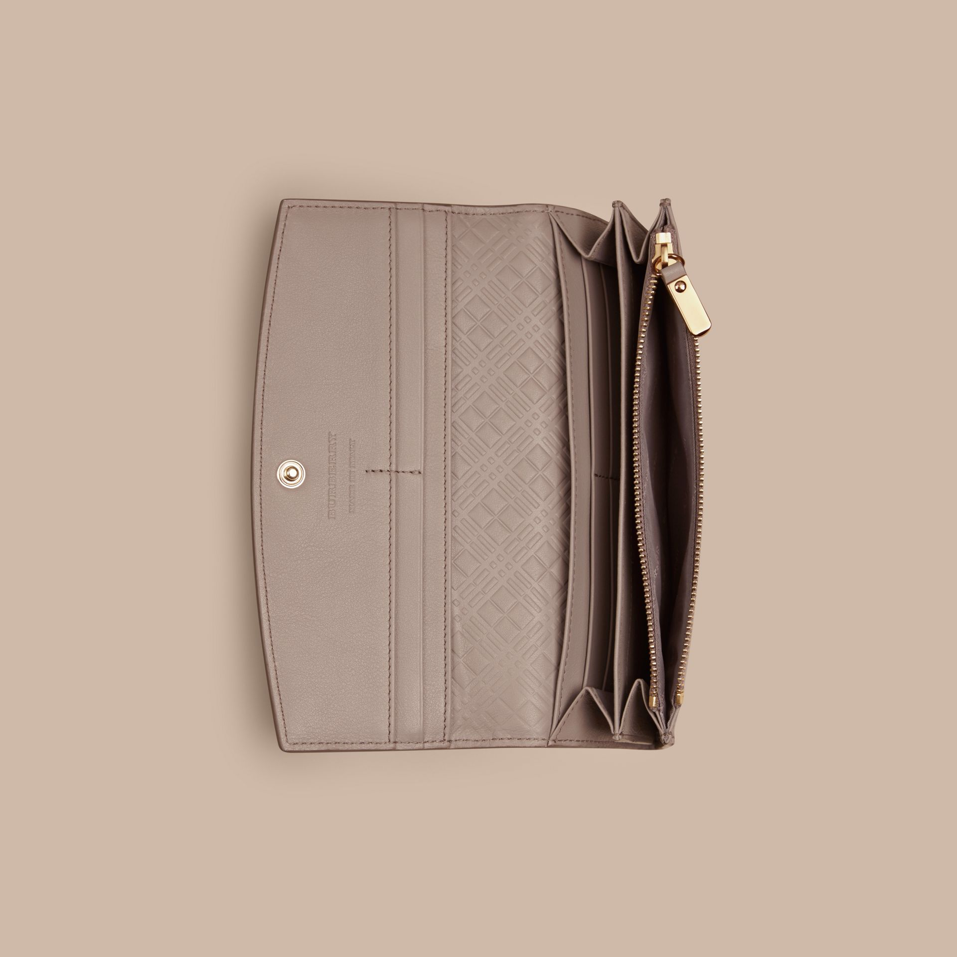 Pale grey Patent London Leather Continental Wallet Pale Grey - gallery image 5