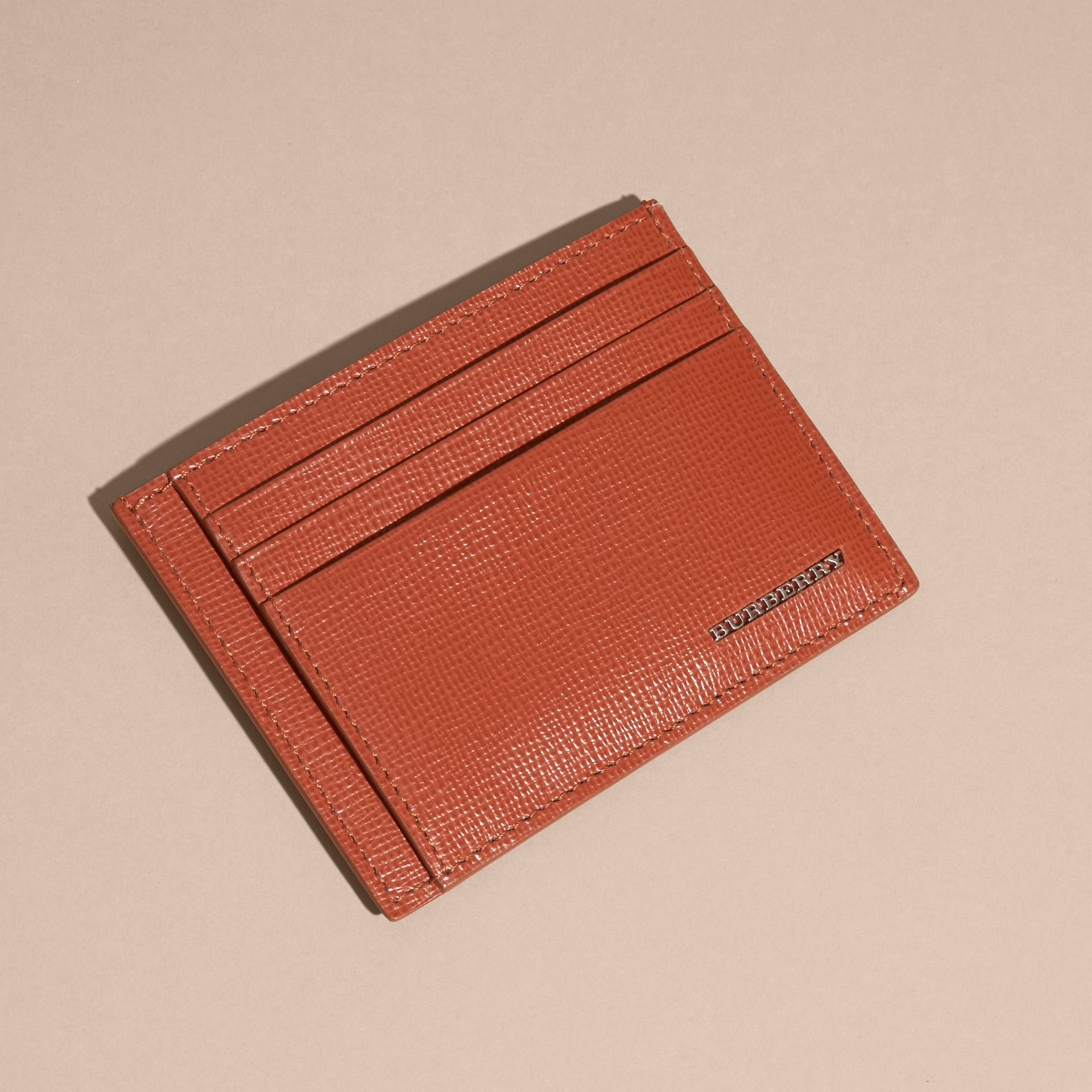 London Leather Card Case in Burnt Sienna - gallery image 5
