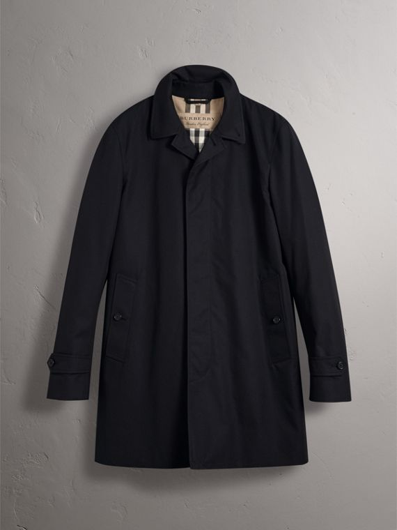 Resin Button Cotton Gabardine Car Coat in Navy - Men | Burberry Hong Kong - cell image 3
