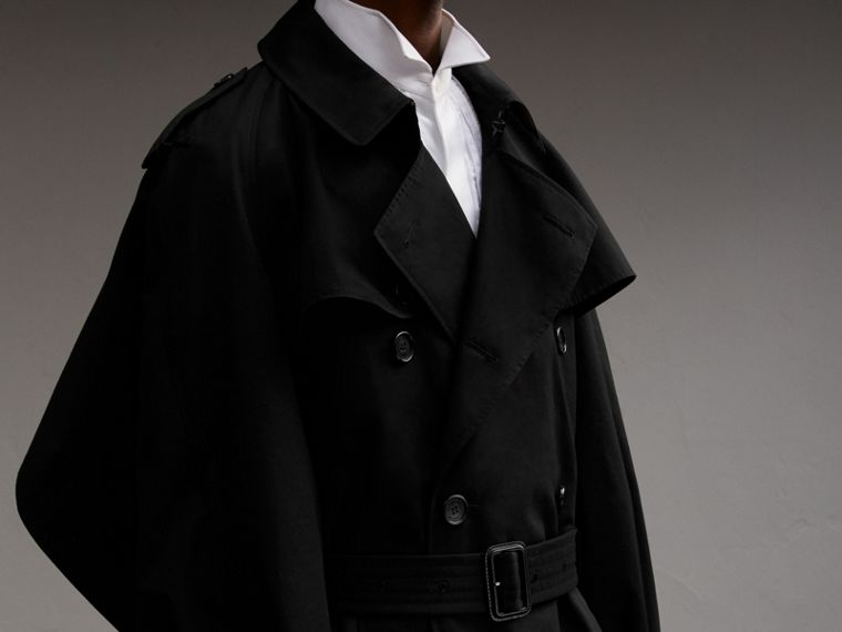 Cotton Gabardine Sculptural Trench Coat - Men | Burberry - cell image 4