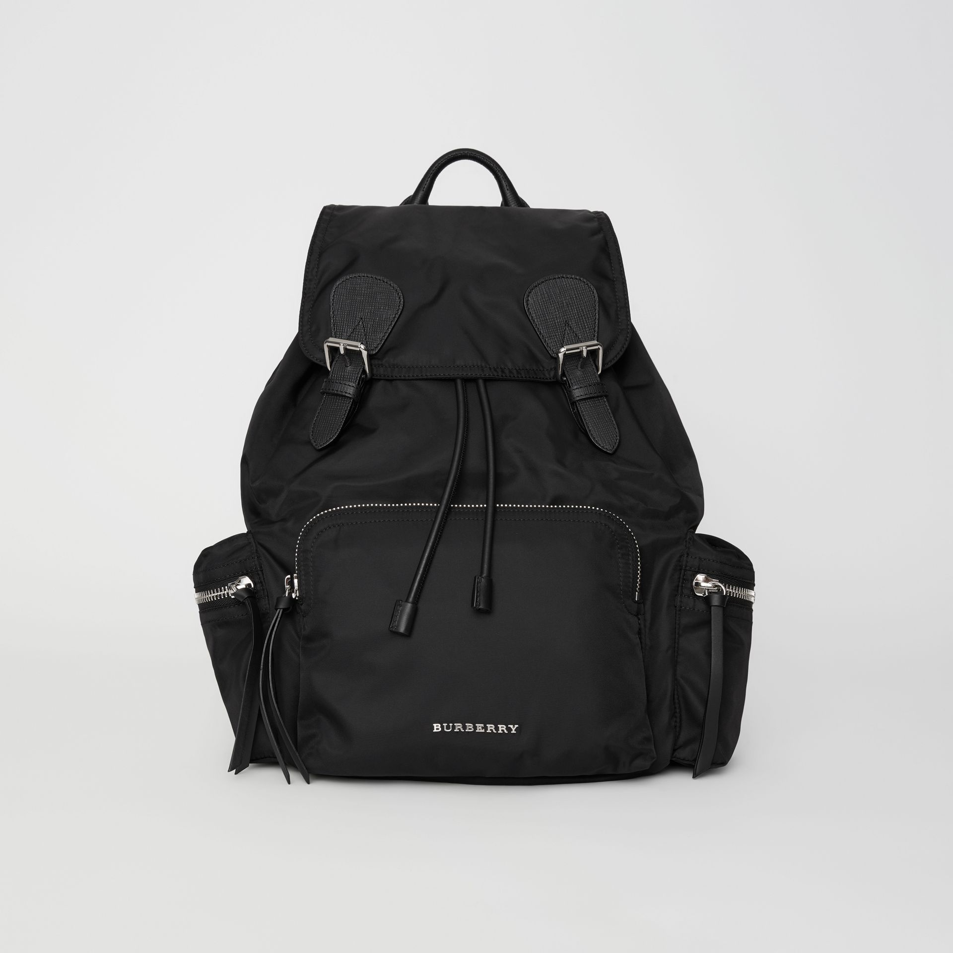 The Large Rucksack in Technical Nylon and Leather in Black - Women | Burberry United Kingdom - gallery image 0