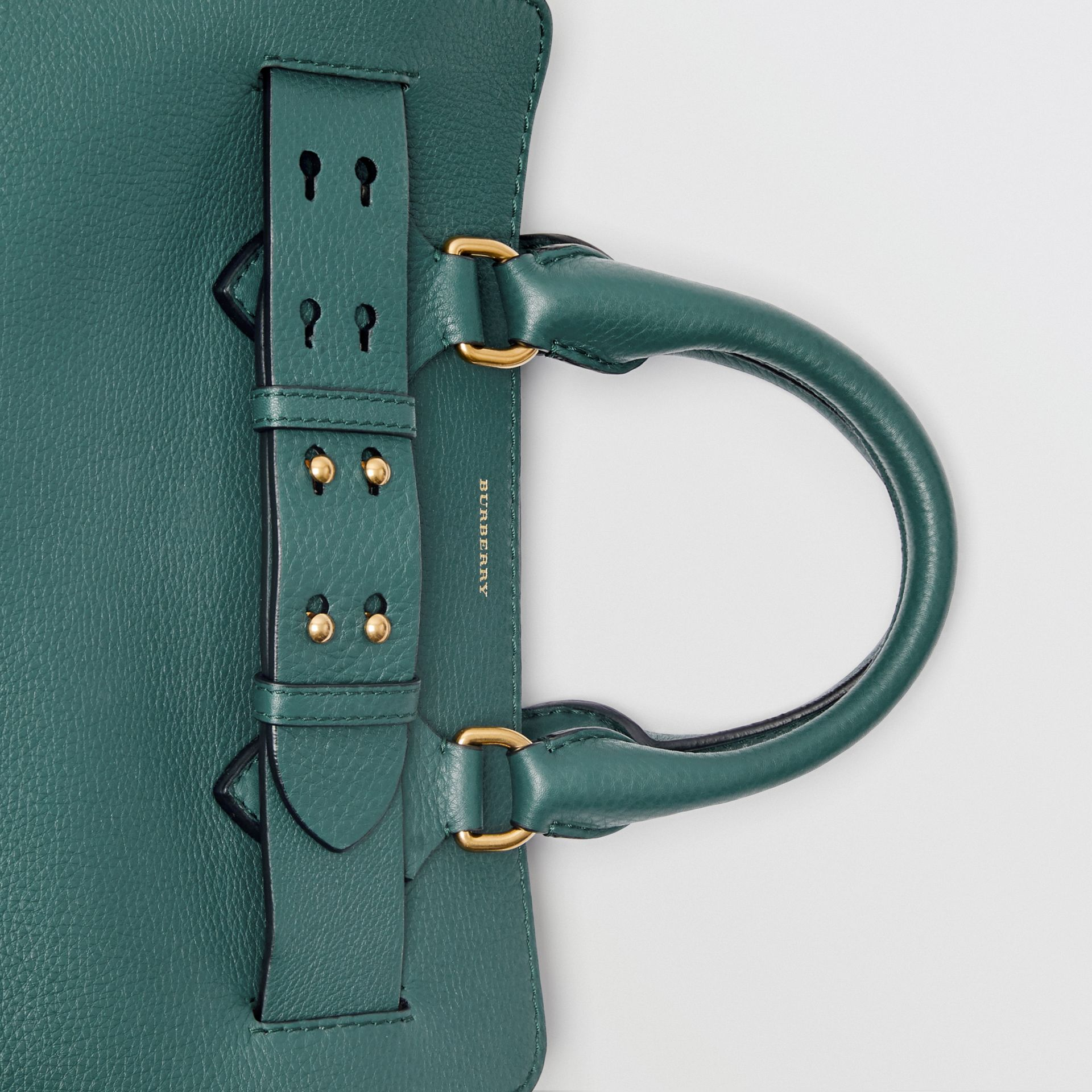 The Small Leather Belt Bag in Dark Cyan - Women | Burberry - gallery image 1