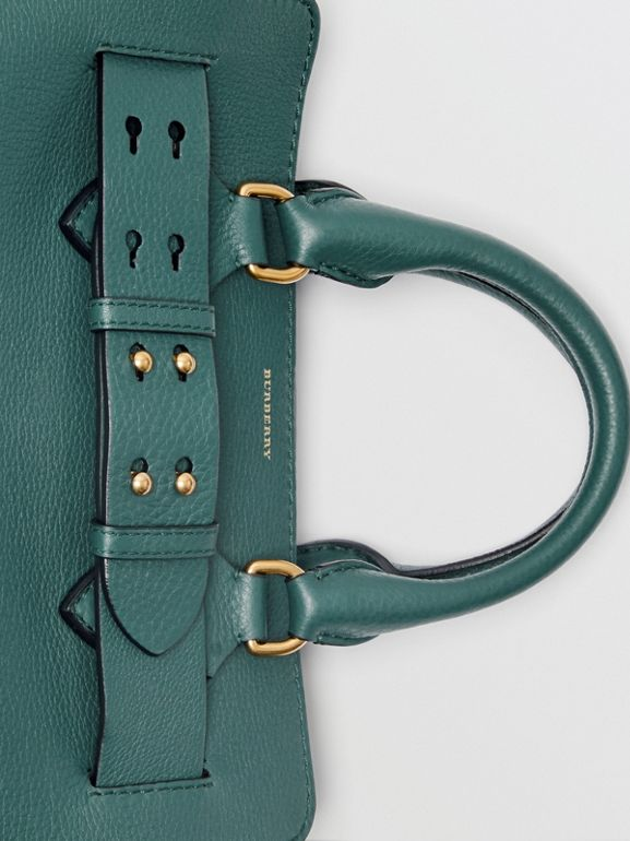 The Small Leather Belt Bag in Dark Cyan - Women | Burberry - cell image 1