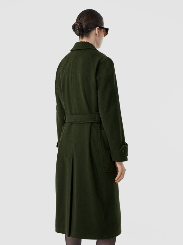 Cashmere Wrap Coat in Forest Green - Women | Burberry - cell image 2