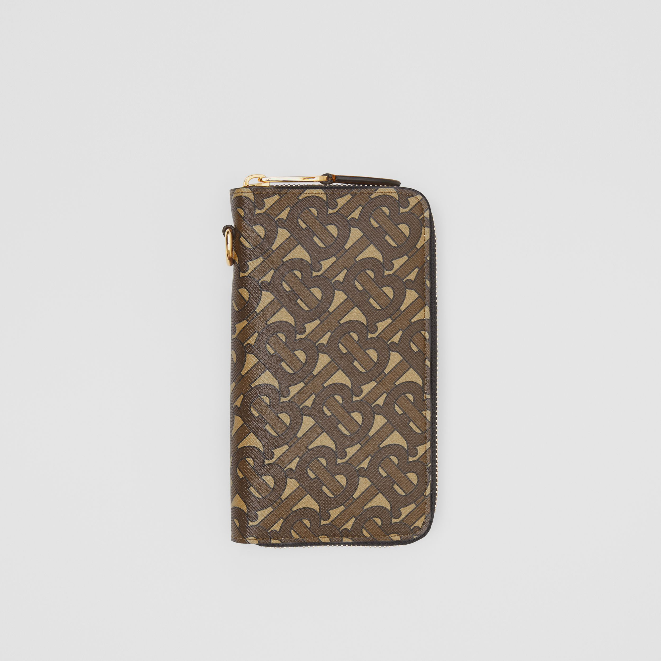 Monogram Print E-canvas Phone Wallet in Bridle Brown - Men | Burberry - 1