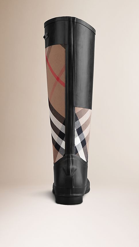 House check Check Panel Rain Boots - Image 2
