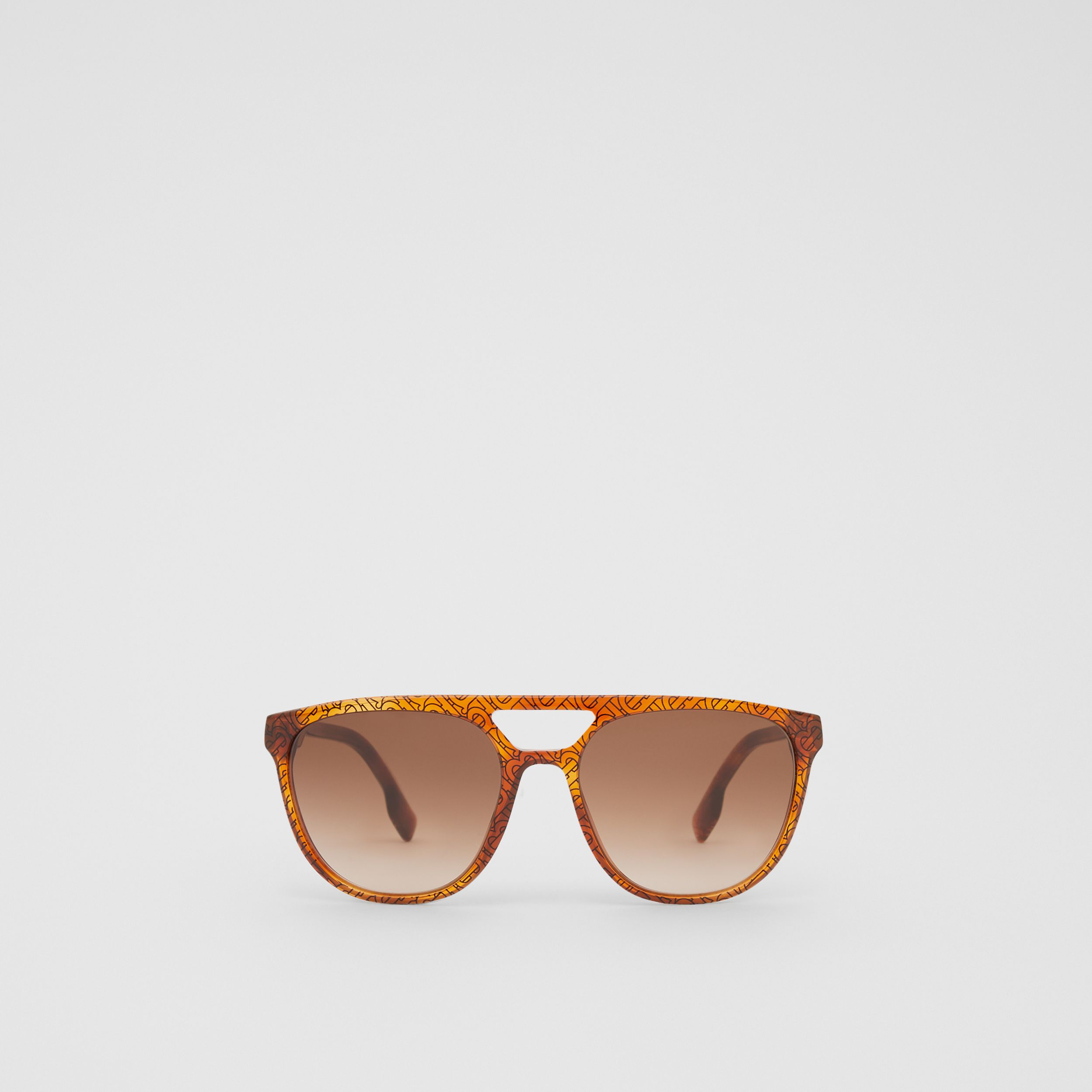 Navigator Sunglasses in Tortoiseshell Amber - Men | Burberry - 1