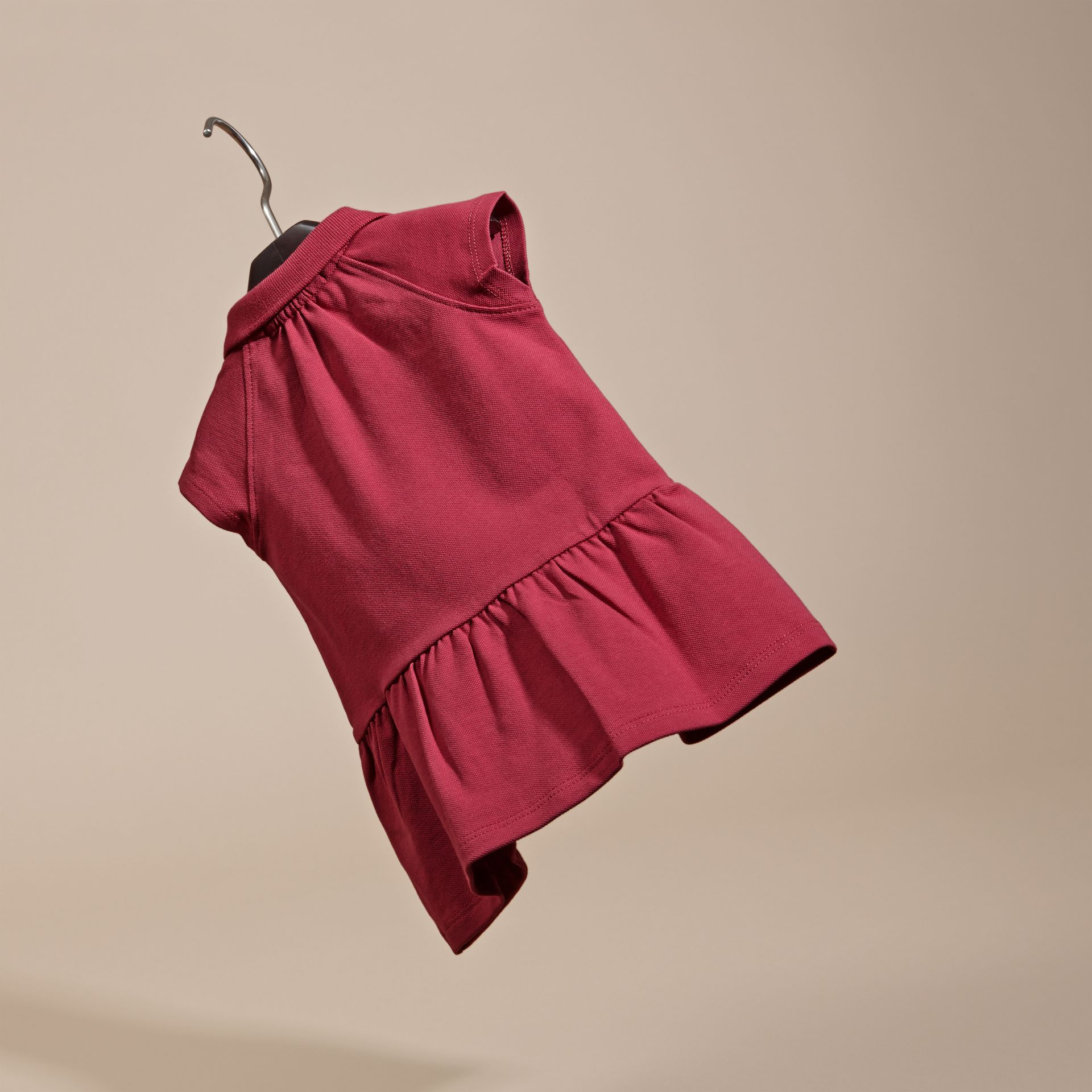 Peony rose Stretch Cotton Piqué Dress - gallery image 4