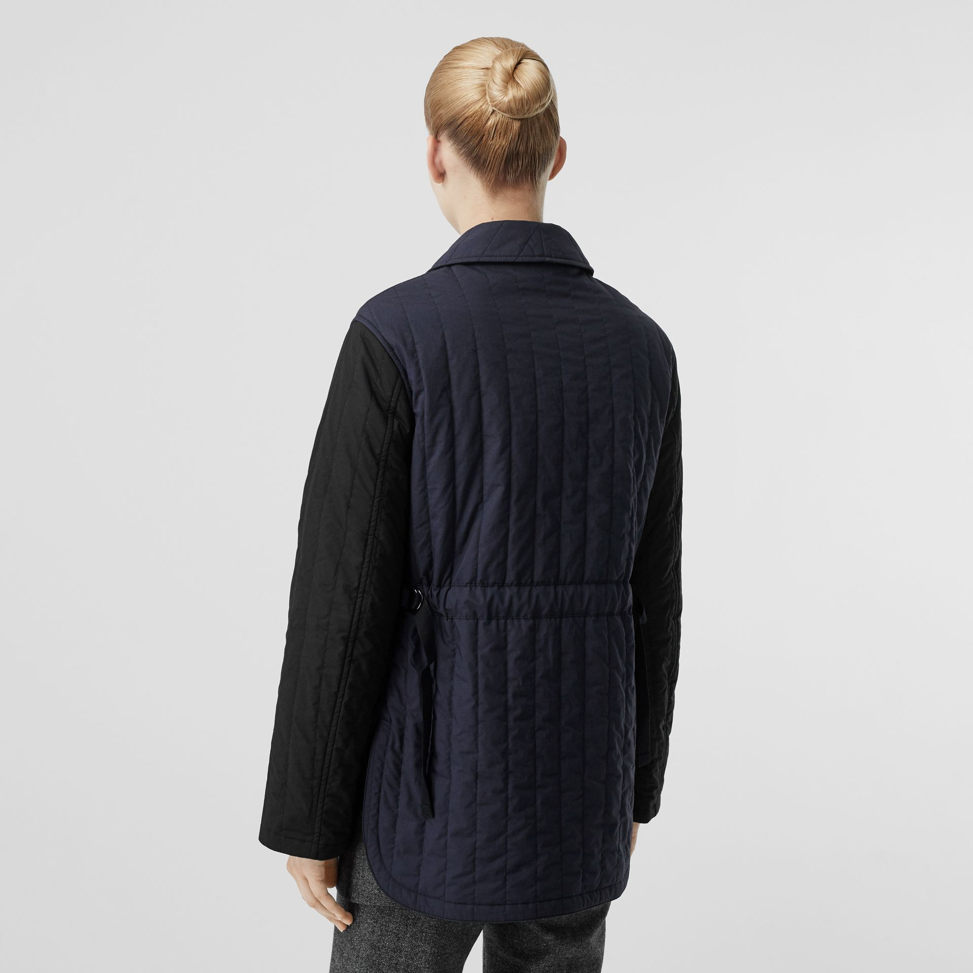 Reversible Quilted Cotton Jacket in Navy - Women | Burberry - gallery image 2