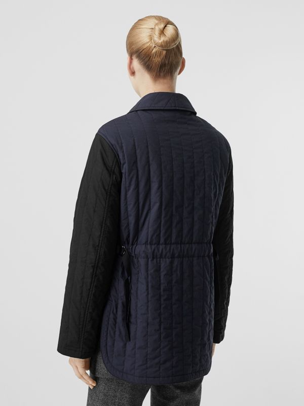 Reversible Quilted Cotton Jacket in Navy - Women | Burberry - cell image 2