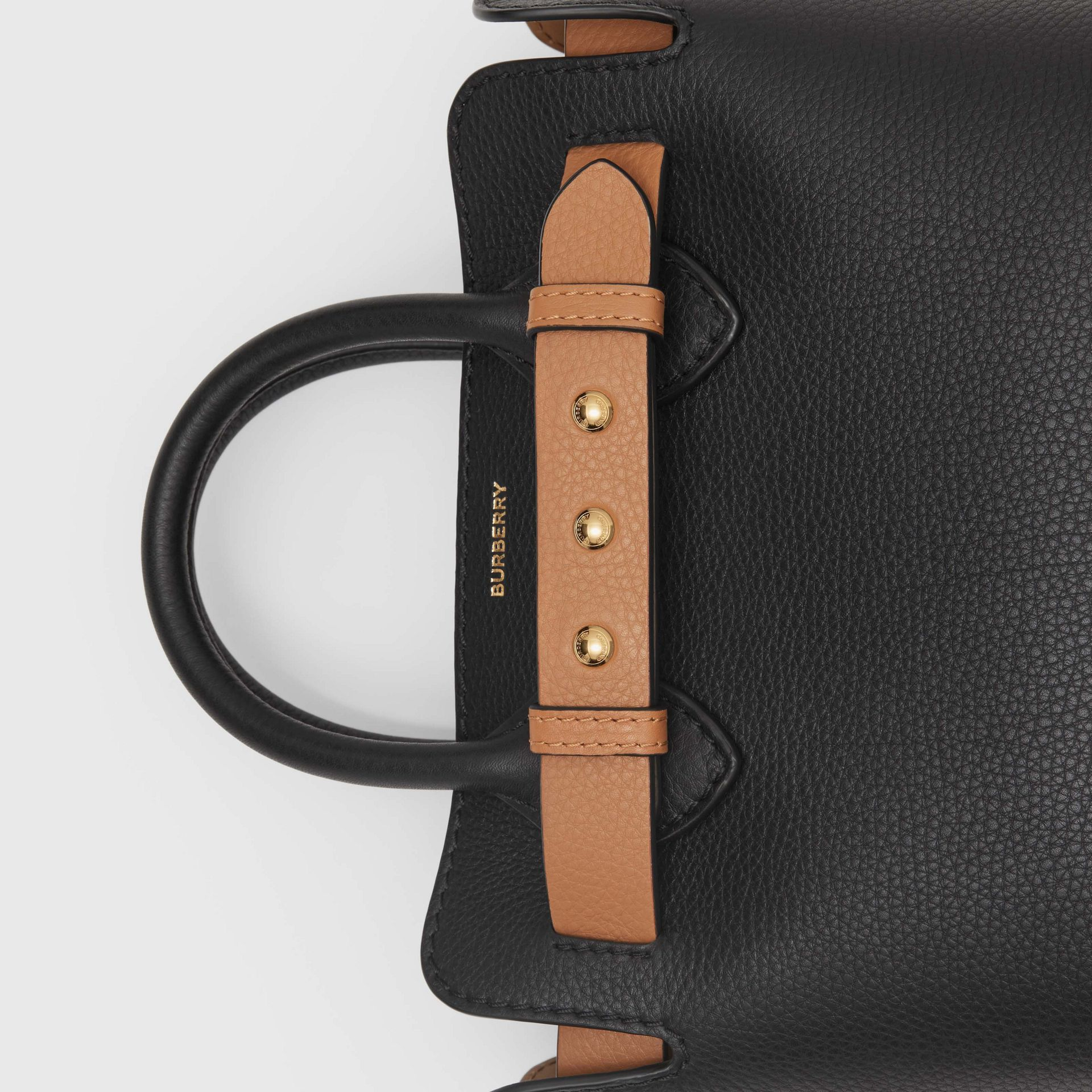 Borsa The Belt mini in pelle con tre borchie (Nero) - Donna | Burberry - immagine della galleria 1