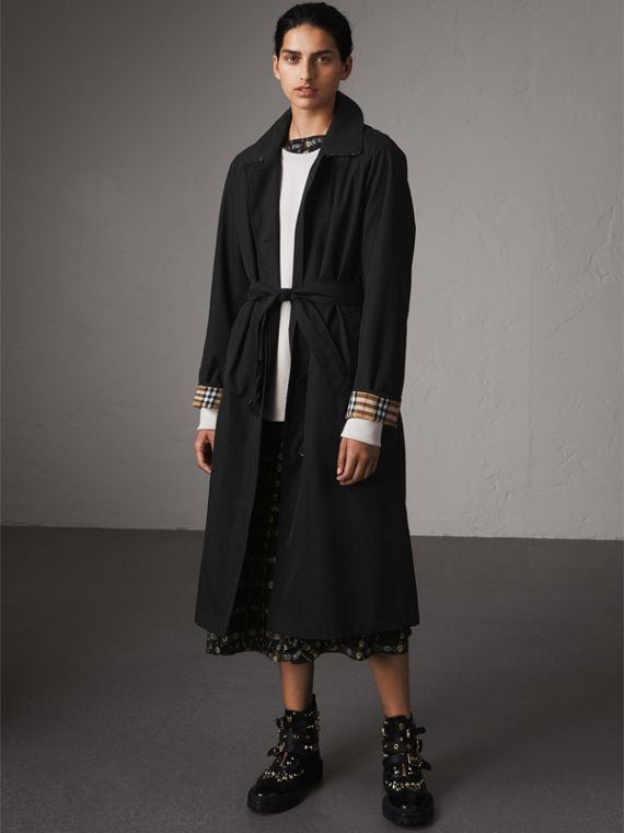 The Brighton – Longline Car Coat in Black - Women | Burberry Singapore