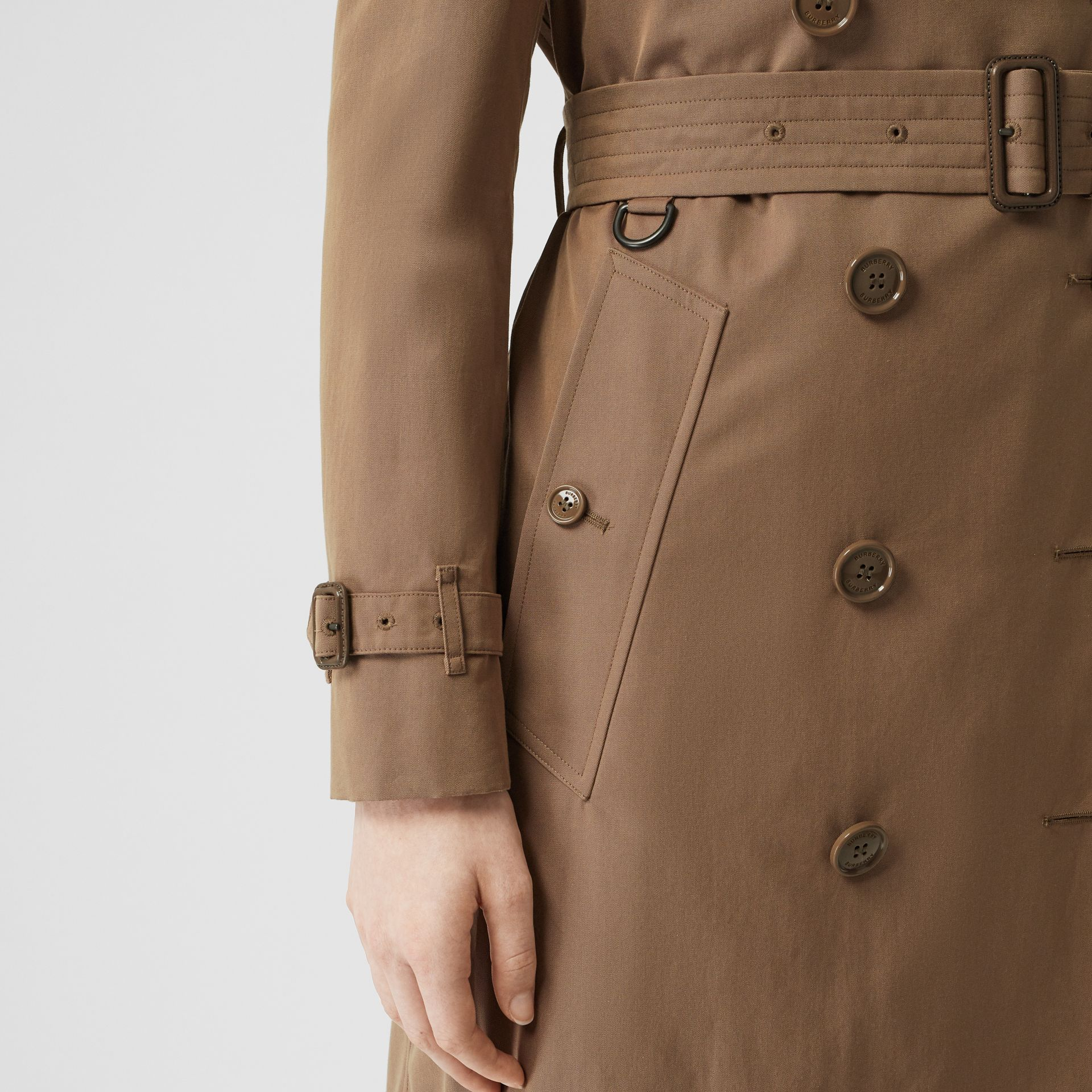 Tropical Gabardine Trench Coat in Taupe - Women | Burberry - gallery image 4
