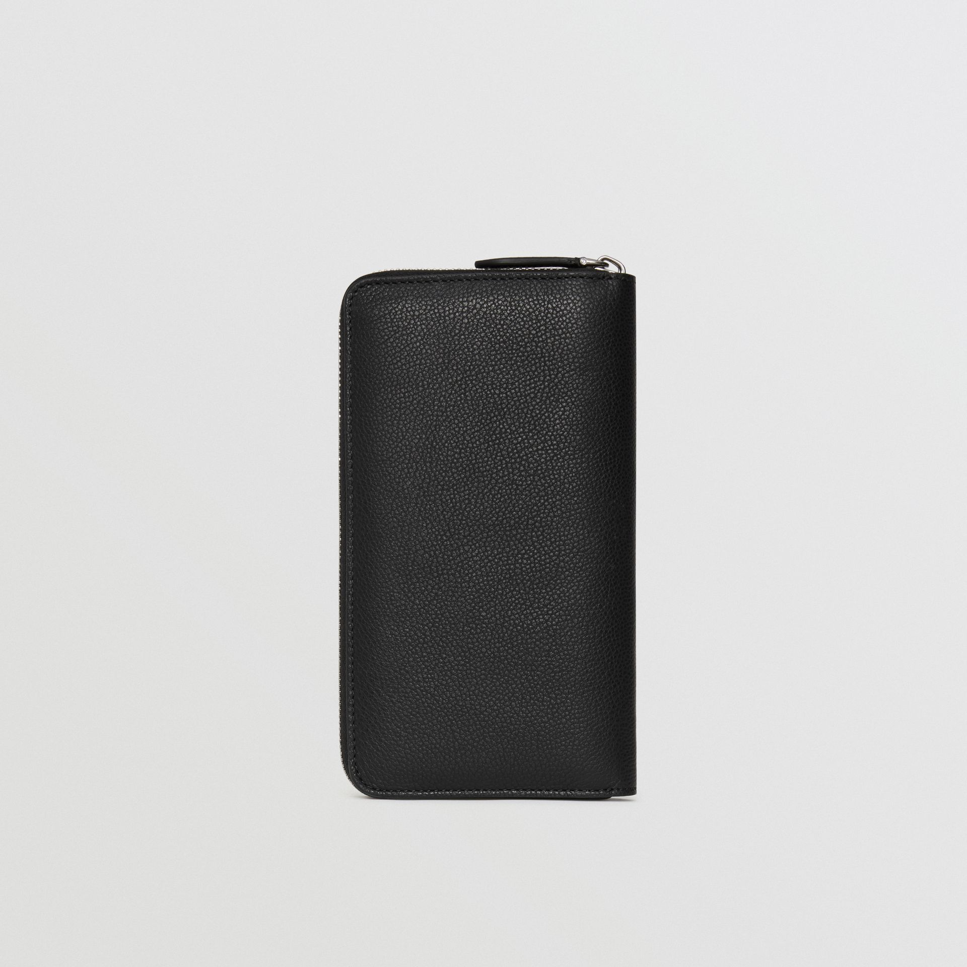 Grainy Leather Ziparound Wallet in Black - Men | Burberry - gallery image 5
