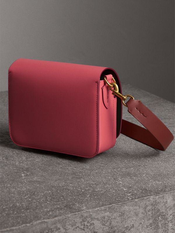 Sac The Satchel carré en cuir (Pivoine Vif) - Femme | Burberry - cell image 3