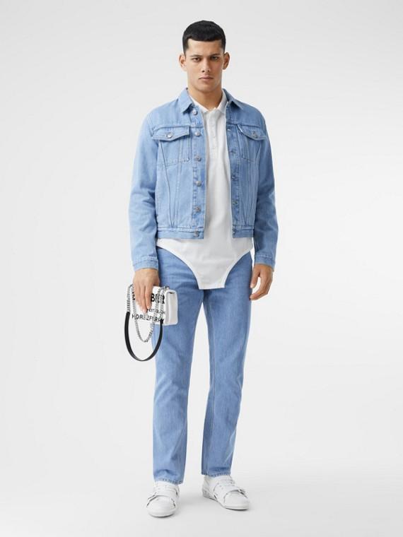 直版剪裁日本丹寧牛仔褲 (淺靛藍)