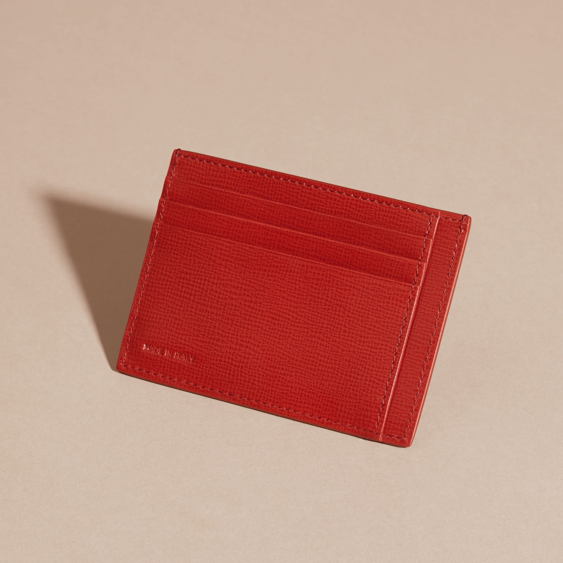 Dark military red London Leather Card Case Dark Military Red - gallery image 3