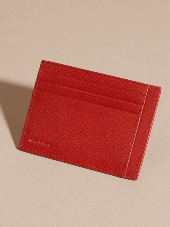 Dark military red London Leather Card Case - cell image 2
