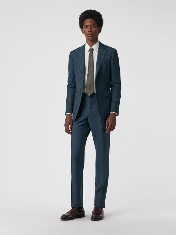 Soho Fit Wool Mohair Suit in Dark Pewter Blue