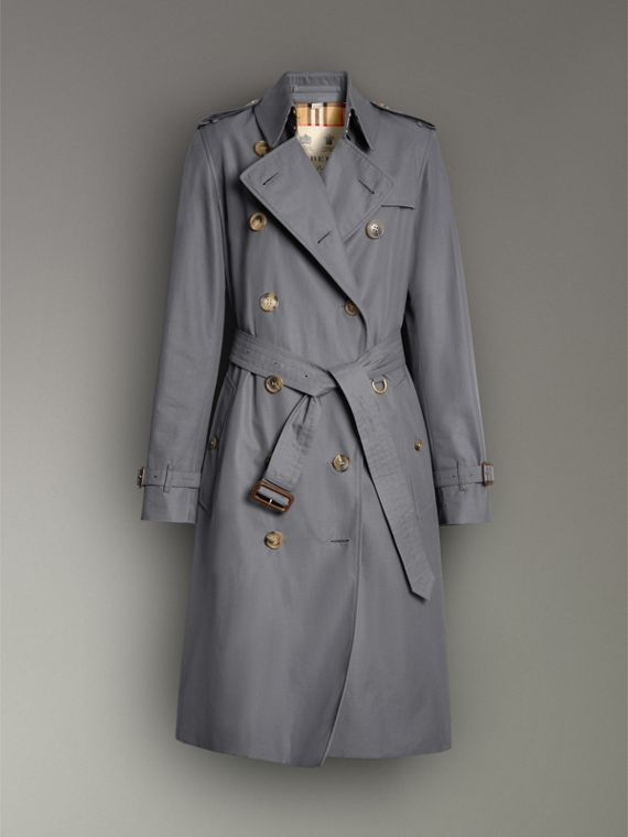 Trench coat Heritage Kensington largo (Gris Medio) - Mujer | Burberry - cell image 3