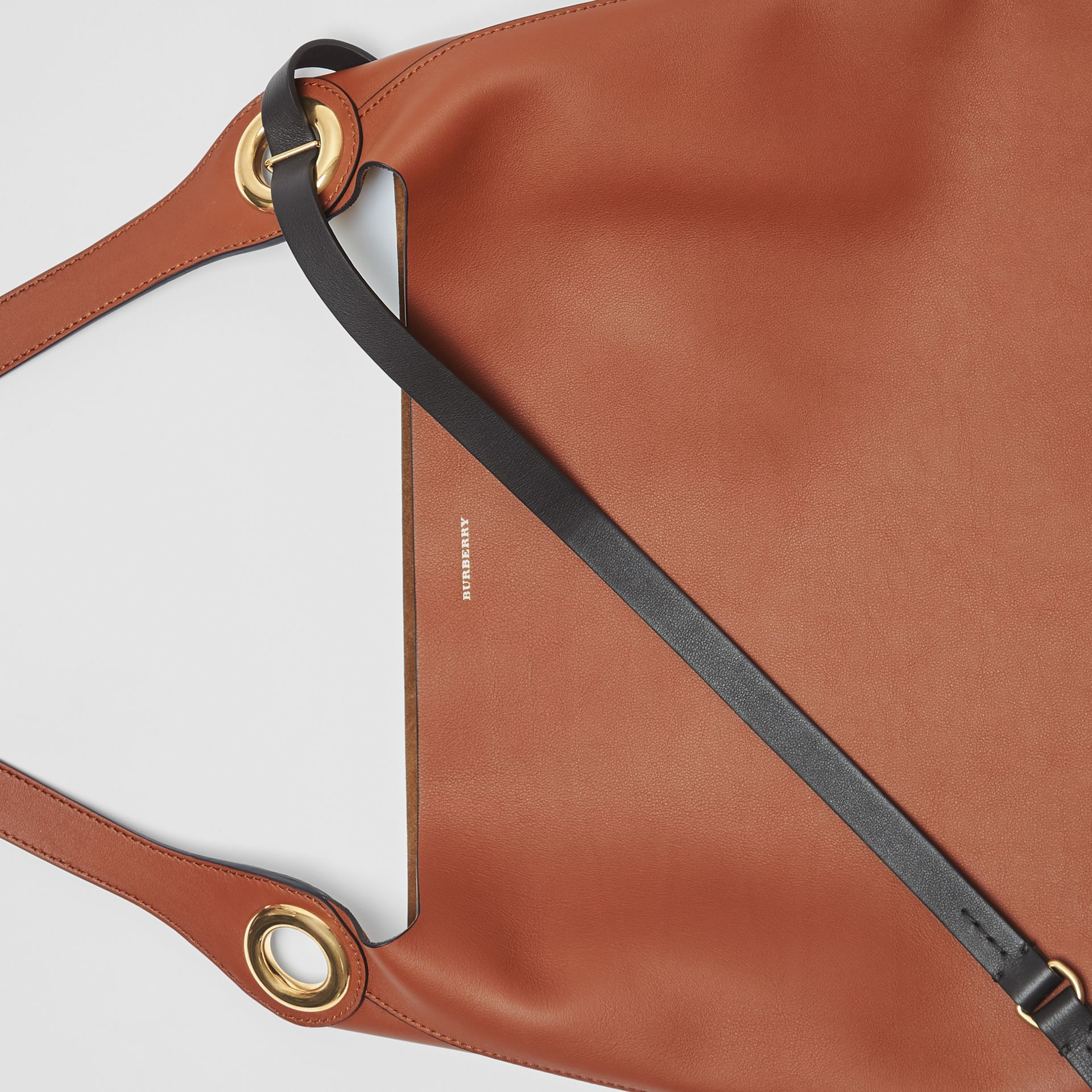 The Leather Grommet Detail Bag in Tan - Women | Burberry - gallery image 1