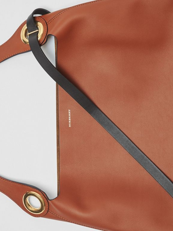 The Leather Grommet Detail Bag in Tan - Women | Burberry - cell image 1