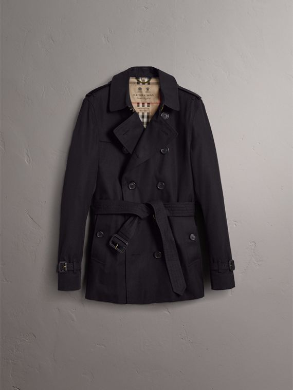 The Chelsea – Short Trench Coat in Navy - Men | Burberry Hong Kong - cell image 3