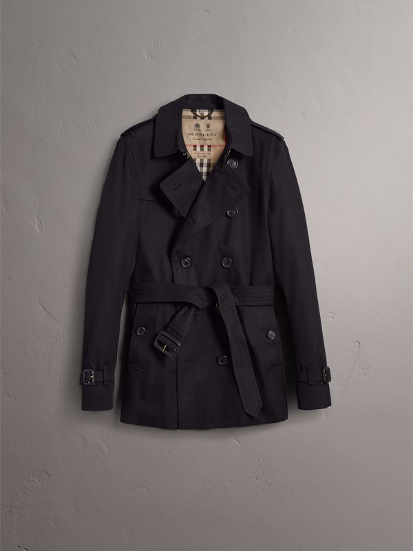 The Chelsea – Short Trench Coat in Navy - Men | Burberry - cell image 3
