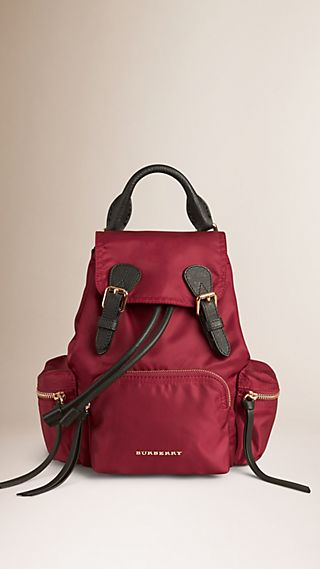 The Small Rucksack in Technical Nylon and Leather