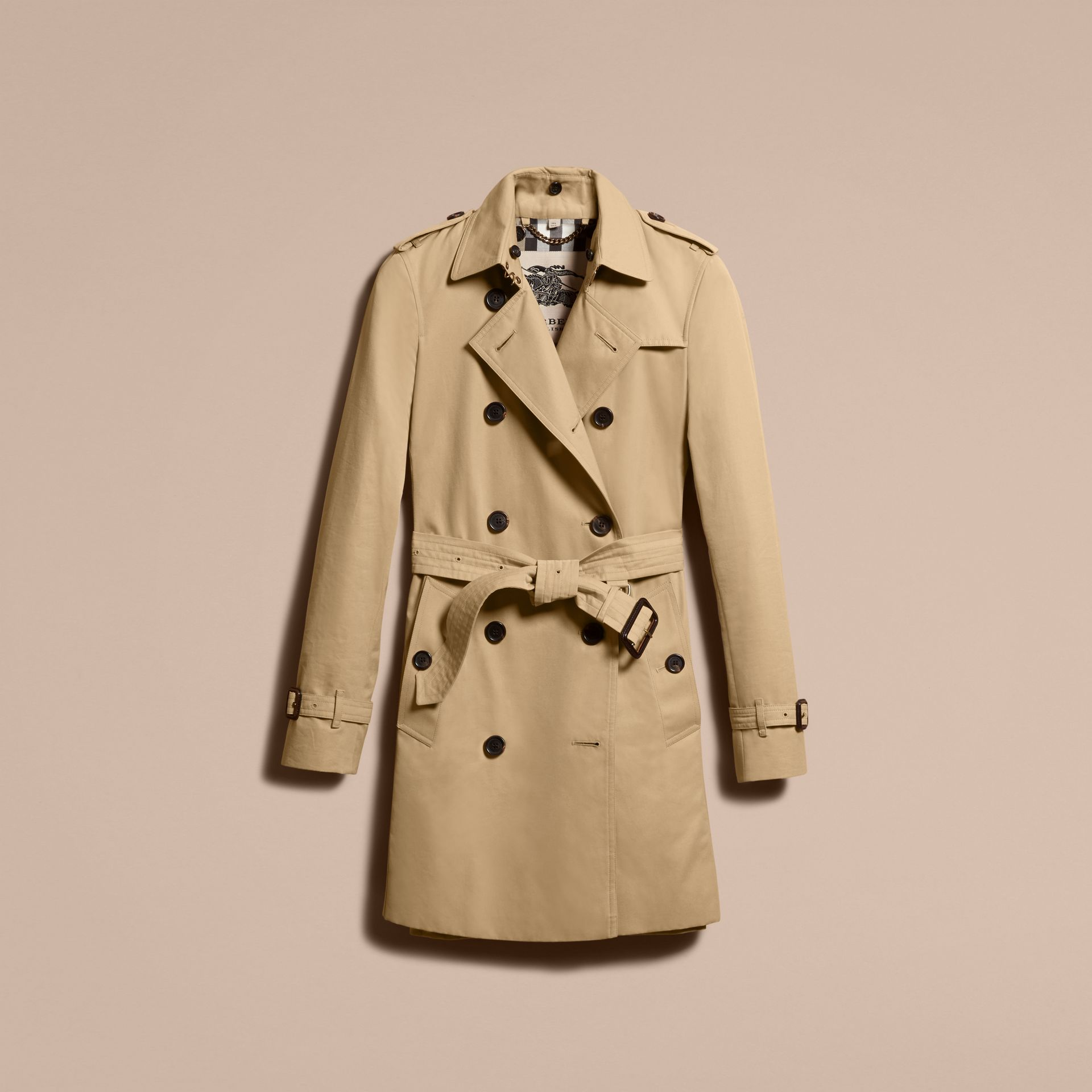 Honey The Kensington – Mid-Length Heritage Trench Coat Honey - gallery image 4