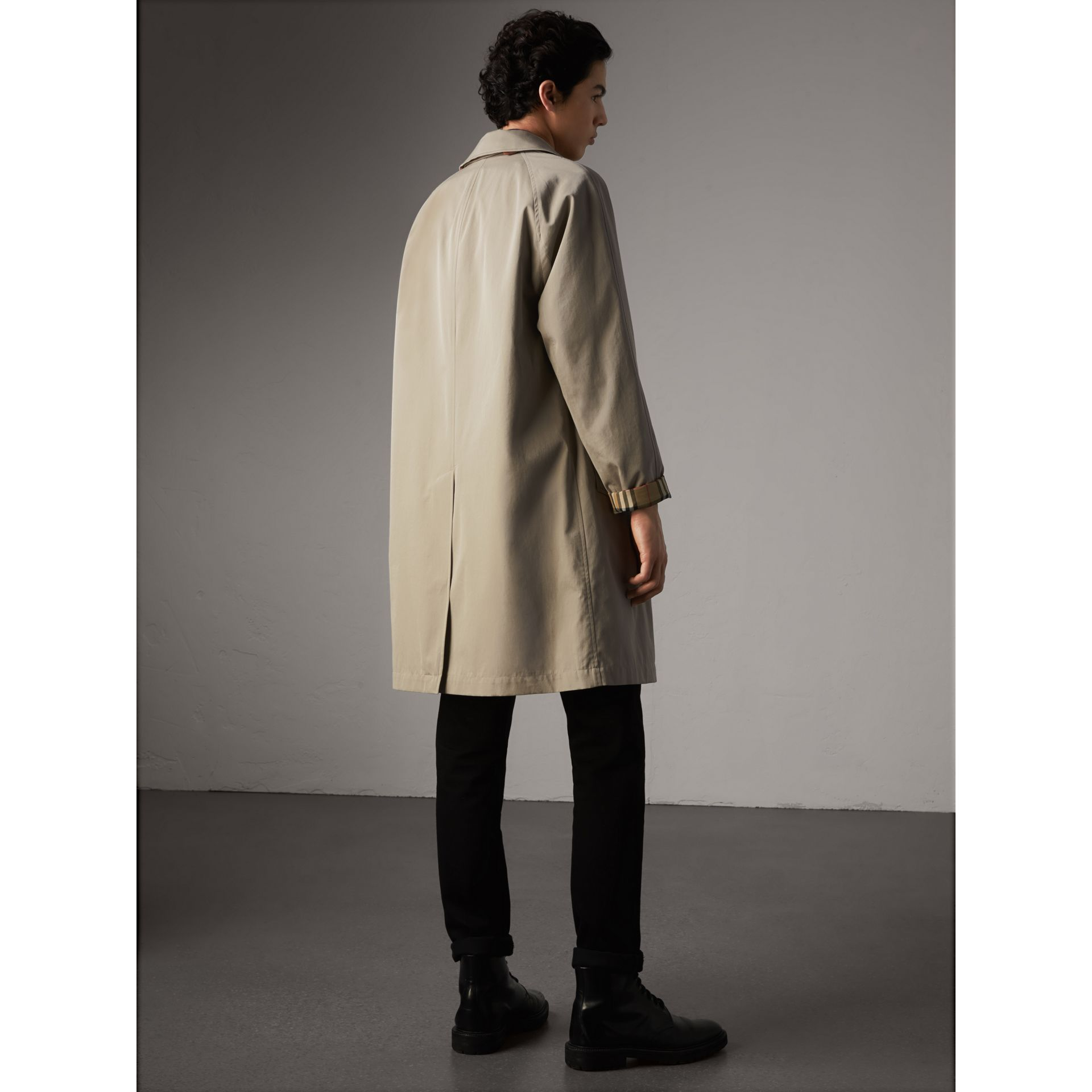 The Camden – Long Car Coat in Sandstone - Men | Burberry - gallery image 3