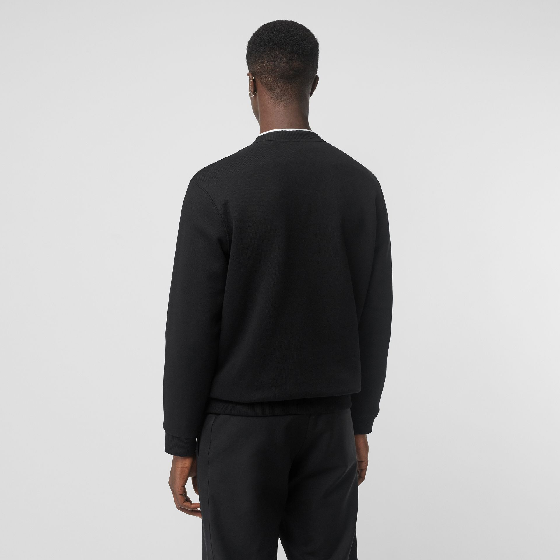 Sweat-shirt avec logo en métal (Noir) - Homme | Burberry - photo de la galerie 1