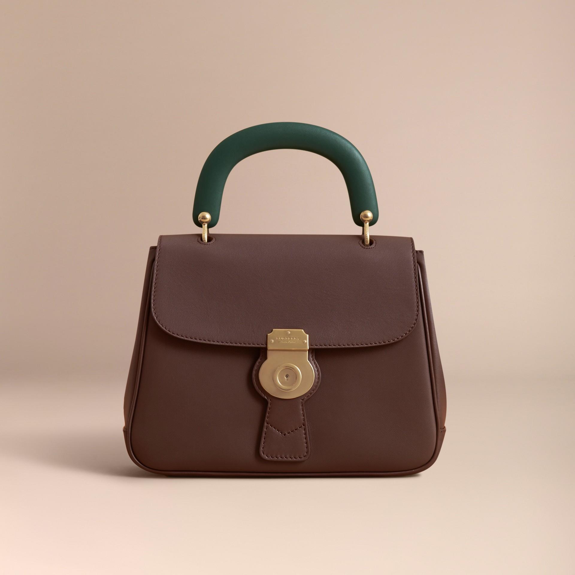 The Medium DK88 Top Handle Bag Dark Chocolate - gallery image 9