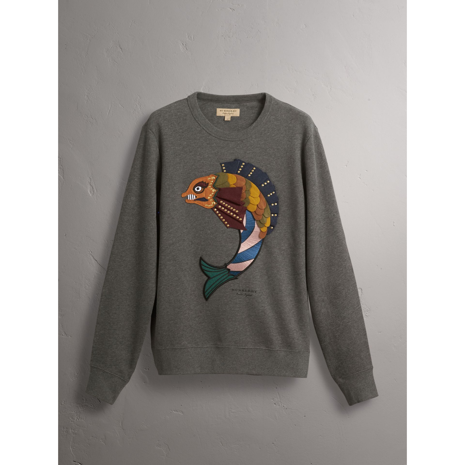 Beasts Appliqué Cotton Sweatshirt - Men | Burberry - gallery image 4