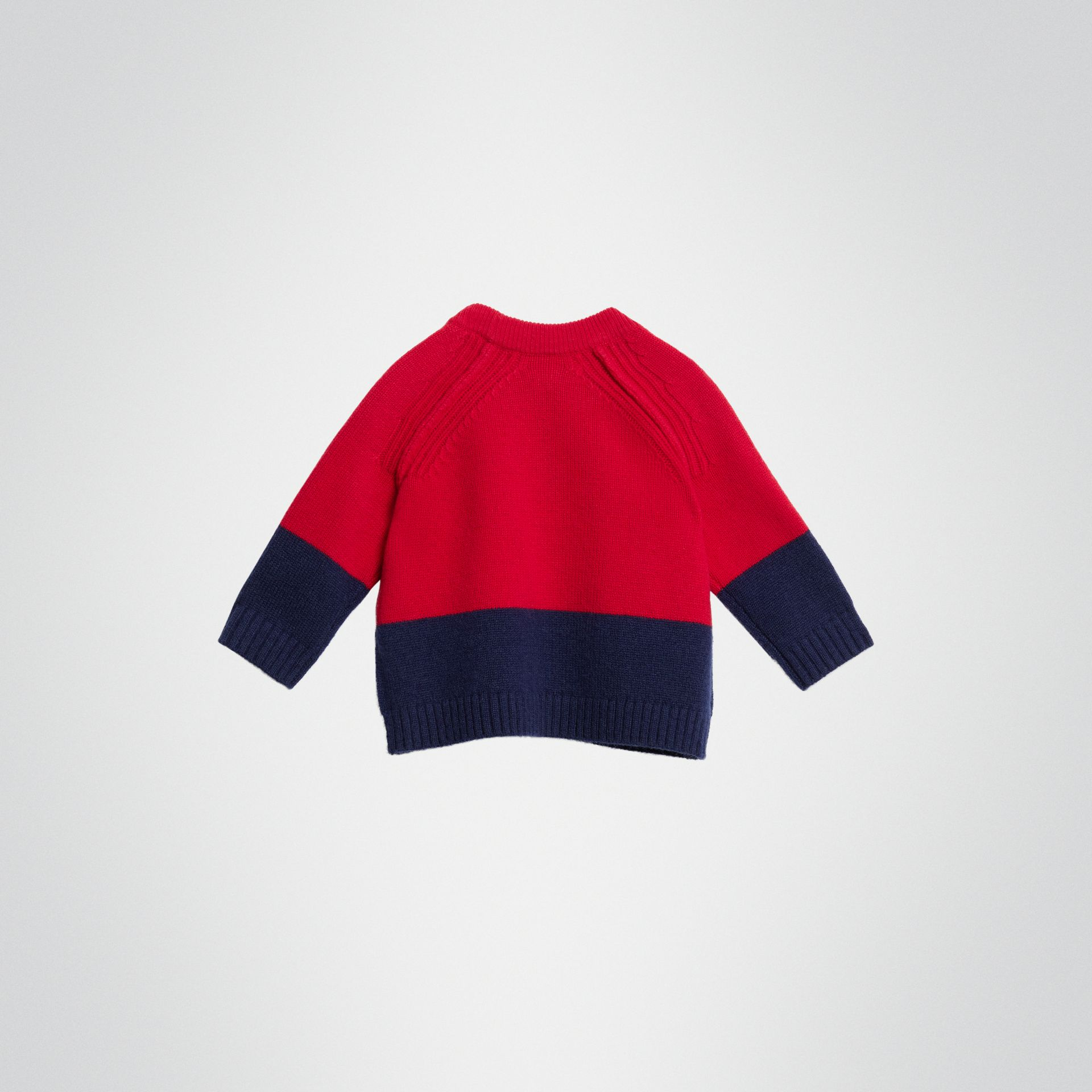 Logo Intarsia Cashmere Sweater in Bright Red - Children | Burberry - gallery image 3
