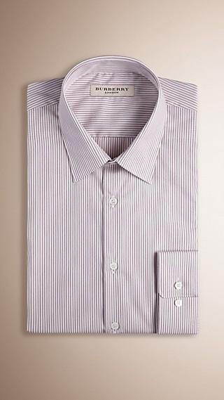 Modern Fit Striped Cotton Shirt