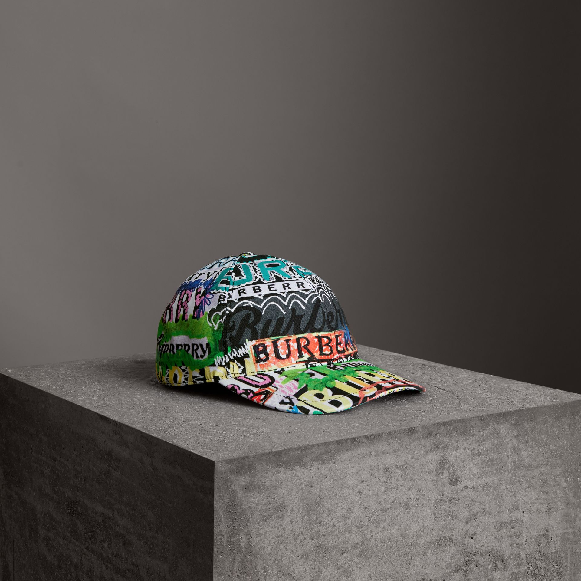 Archive Logo Print Baseball Cap in Multicolour | Burberry Hong Kong - gallery image 0