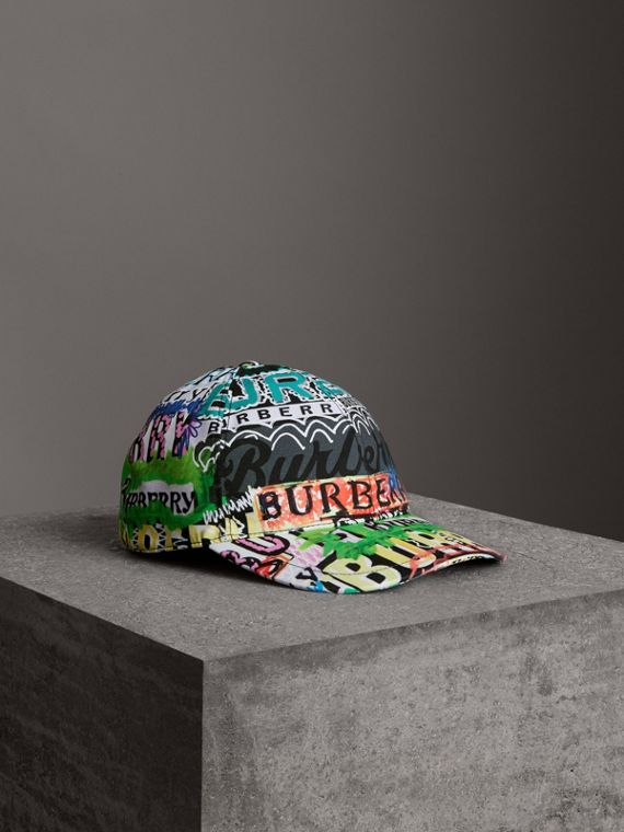 Archive Logo Print Baseball Cap in Multicolour