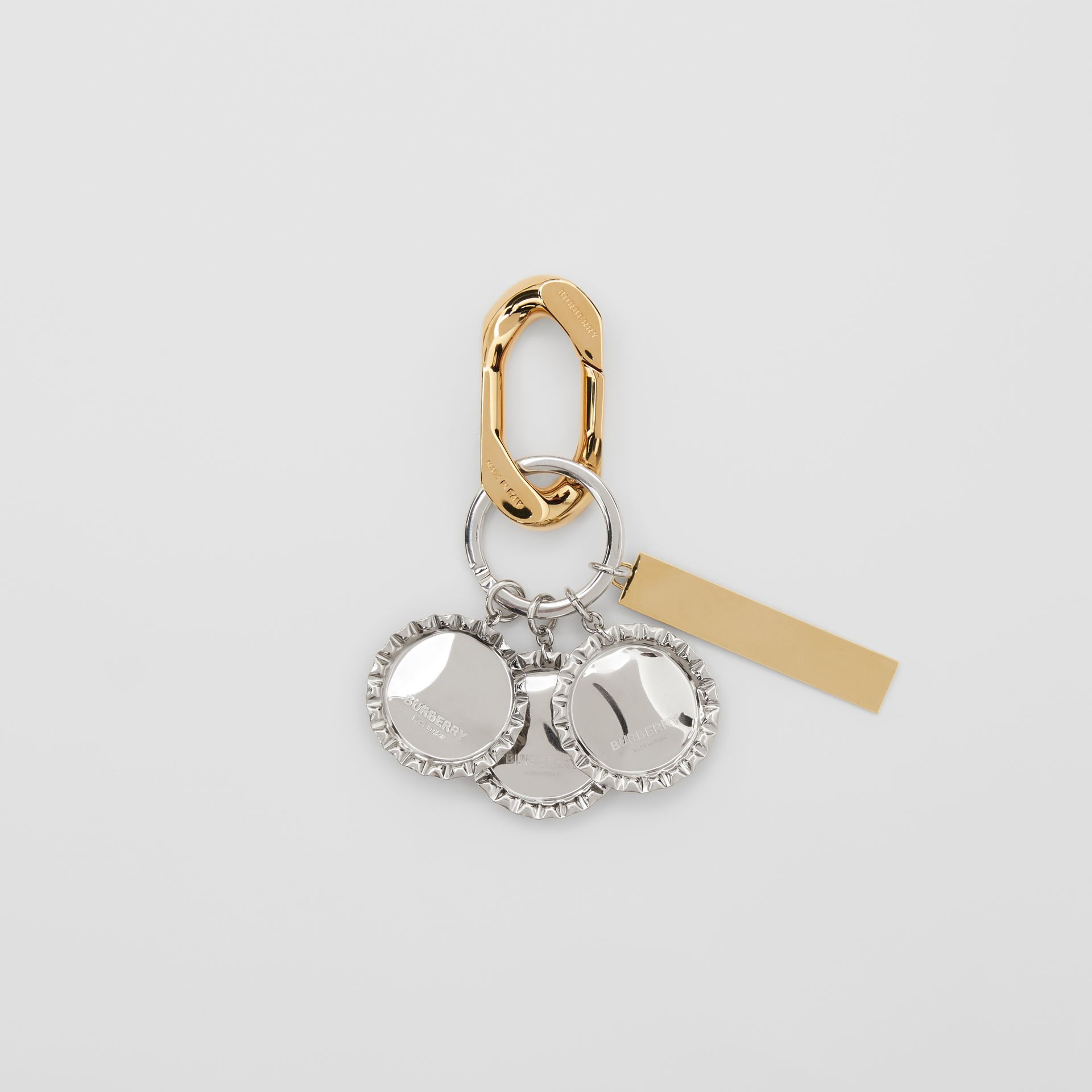 Gold and Palladium-plated Bottle Cap Charm in Multicolour - Women | Burberry Australia - gallery image 2